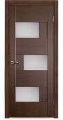 Dominika Glass Interior Door Wenge Finish