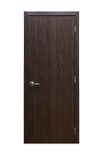 Euro 34 Black Walnut Laminate Modern Interior Door