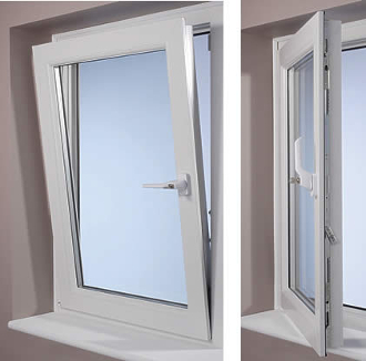 "W 30"" x H 24""  PVC Tilt and Turn Window"