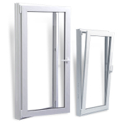 "W 28"" x H 54""   PVC Tilt and Turn Window"