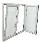 "W 60"" x H 64""  PVC Tilt and Turn Window"