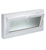"W 36"" x H 18"" PVC Hopper / Tilt Window"