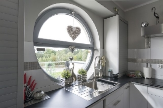 Round  Windows Available In PVC & Wood Aluminum