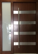Model 019 Modern Wenge Wood Exterior Door w/ Side Panel