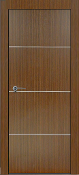 """Madrid"" Espresso Modern Interior Door w/Aluminum Strips"