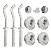Cap & Brackets Set For Hydronic Radiator Installation (13 pcs.)
