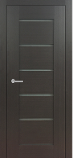 """Delux"" Dark Wenge Modern Interior Door w/Frosted Glass"