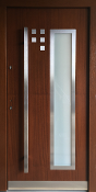 Model 033 Modern Walnut Finish Exterior Door