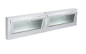 "W 96"" x H 36"" PVC Hopper / Tilt Window"