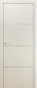 """Madrid"" White Modern Interior Door w/Aluminum Strips"