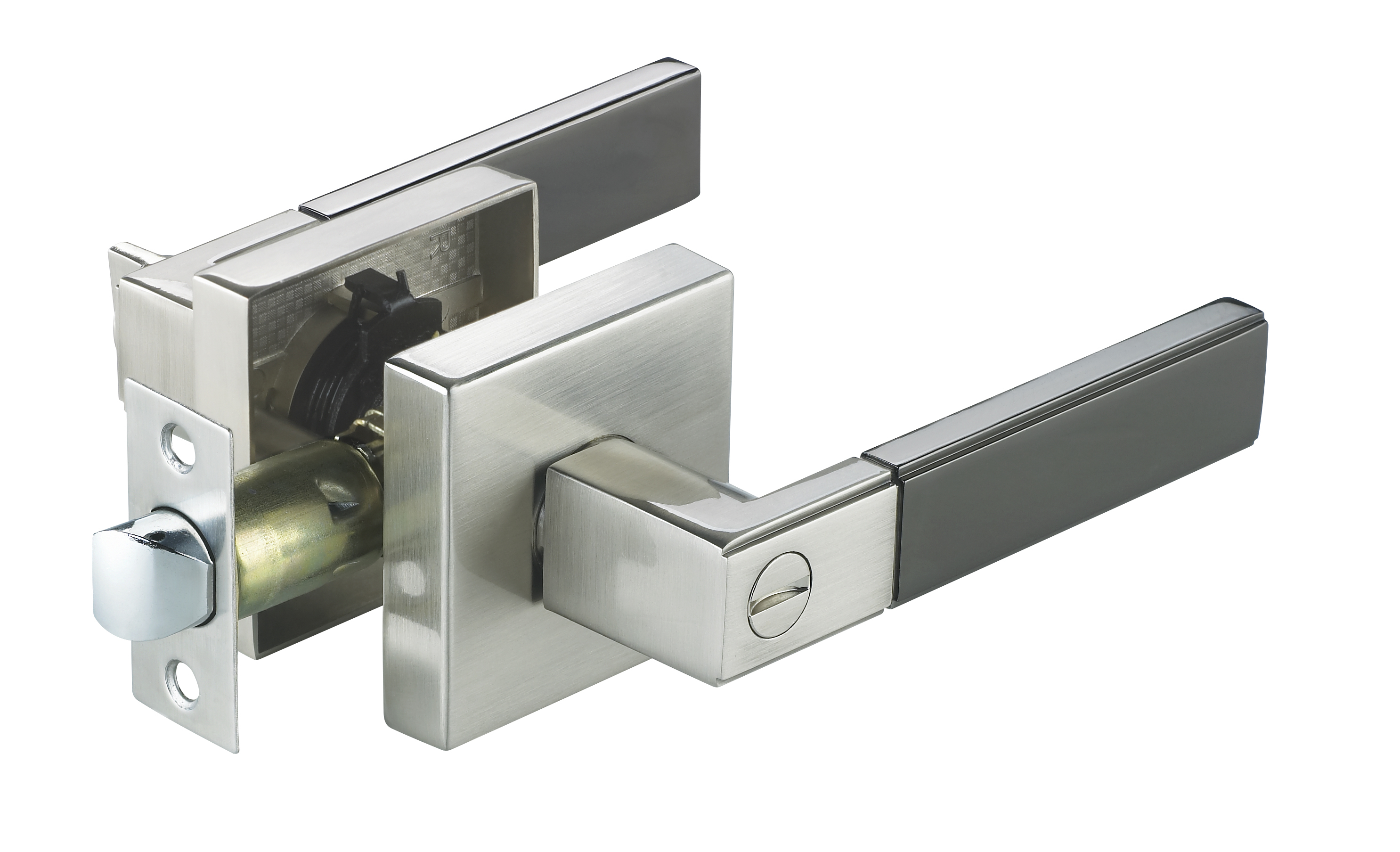"Modern Interior Door Handles athena"" sn/bn modern privacy interior door handle - modern home luxury"