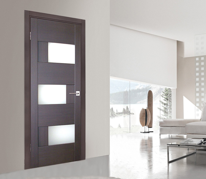 Wenge door milano 275 wenge - Modern home luxury doors ...