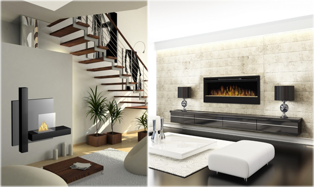Modern home luxury ethanol fireplaces ventless for Ventless fireplace modern