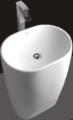 Model 1385 Bathroom Pedestal Sink