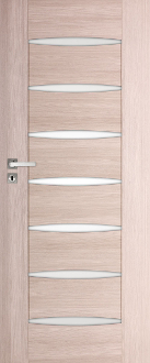 Elegance Modern Style Interior Door w/Frosted Glass