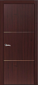 """Roma"" Modern Interior Door Mahogany Finish w/Aluminum Strips"
