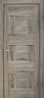 """Vetro"" Grey Oak Interior Door"