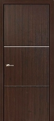 """Roma"" Modern Interior Door Mahogany with Aluminum Strips"