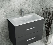 Modern Bathroom Cabinet Set Wenge Finish