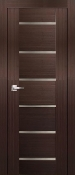 Delux Modern Interior Door Espresso Finish with Frosted Glass