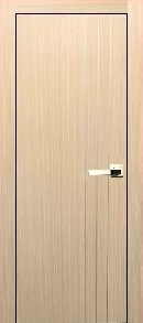 """Barcelona"" Modern Interior Door Bleached Oak Aluminum Strips"