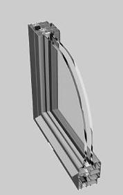 Ponzio Aluminum NT 60 PE - Tilt and Turn Window